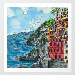 Viareggio, Cinque Terre Art Print
