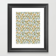 64 Popular People and a Dog (Pattern) Framed Art Print