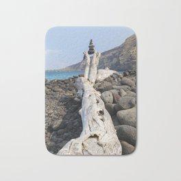 Rocks, Balanced at the Beach Bath Mat