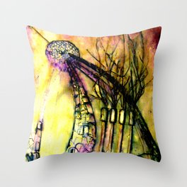 sculpting the earth  Throw Pillow