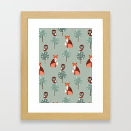 Fox Woods Framed Art Print