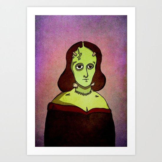 Prophets of Fiction - Mary Shelley /Frankenstein Art Print