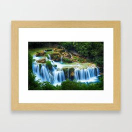 Waterfall at Krka National Park, Croatia Framed Art Print