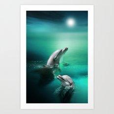 Dolphin Delights Art Print