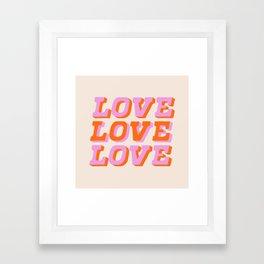 much love Framed Art Print