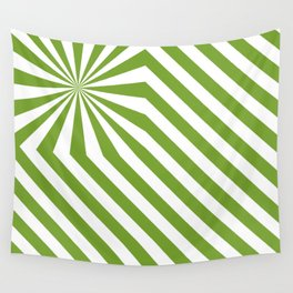 Stripes explosion - Green Wall Tapestry