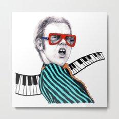 Vintage Elton - Analog Zine Metal Print