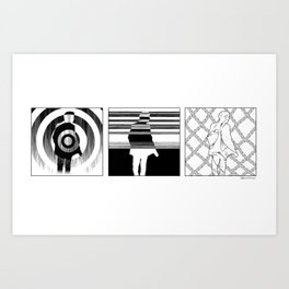 Lost in the pattern Art Print