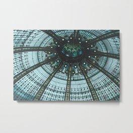 Dark Blue Glass Dome Metal Print