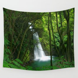 Waterfall in the Azores Wall Tapestry