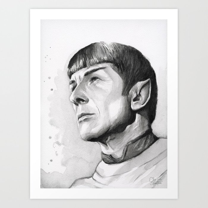 Star Trek Spock Portrait Art Print