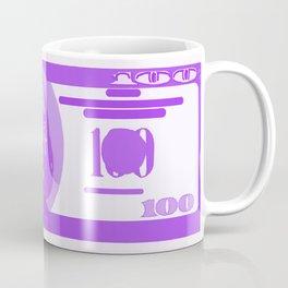 BIG PURPLE 100 DOLLAR BILL BEN FRANKLIN $$$ Coffee Mug