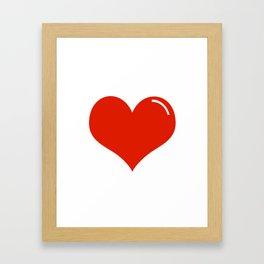 Heart Sticker Framed Art Print