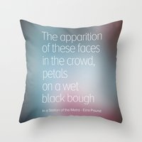 poetry Throw Pillows featuring Poetry by Rafael CA