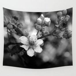 Blackberry Flower Wall Tapestry