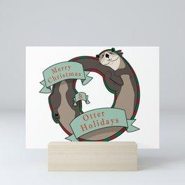 And Otter Holidays Mini Art Print