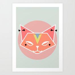 Cat Tribe 05  Art Print