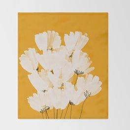 Flowers In Tangerine Throw Blanket