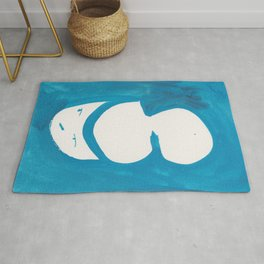 Catty Knows What You Are Thinking | 181218 Faces Watercolour Kawaii Rug