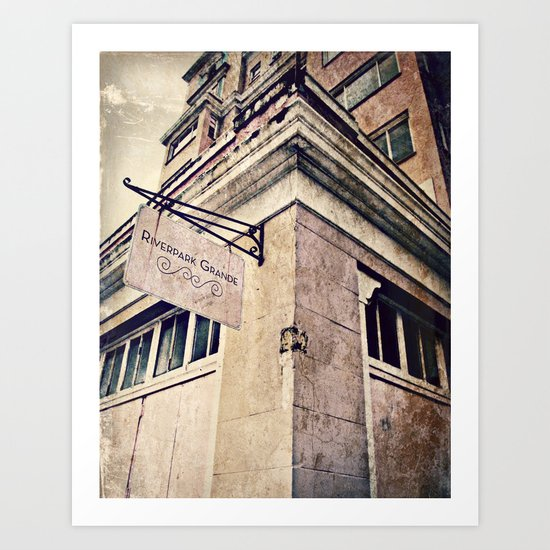 RiverPark Grande Hotel Vintage Art Print