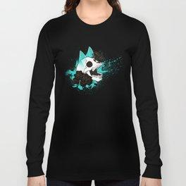 Skull 'n' Roses (ScribbleNetty-Colored) Long Sleeve T-shirt