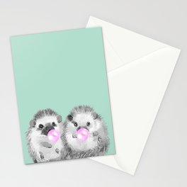 Playful Twins Hedgehog Stationery Cards