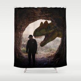 T-Rex Cop by GEN Z Shower Curtain