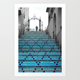 Mystery Man on the Blue Stairway to Heaven, Kansas City Art Print