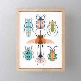 Patterned Beetles Framed Mini Art Print