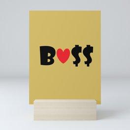 Boss (gold) Mini Art Print