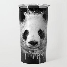Cool Abstract Graffiti Watercolor Panda Portrait in Black & White  Travel Mug