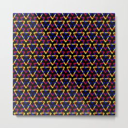 Primary Triangles Metal Print