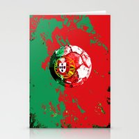 portugal Stationery Cards featuring football Portugal  by seb mcnulty