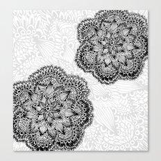Mandalas in black Canvas Print