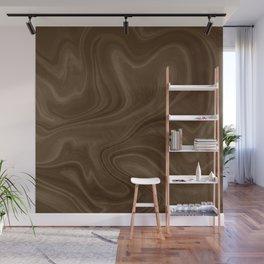 Chocolate Brown Swirl Wall Mural