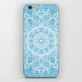 Mandala Icy Blue iPhone Skin