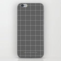Grey and White Grid iPhone & iPod Skin