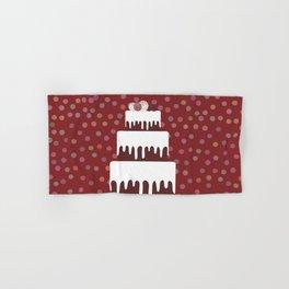 Card design - Birthday, valentine's day, wedding, engagement. Sweet cake, white cream chocolate cake Hand & Bath Towel