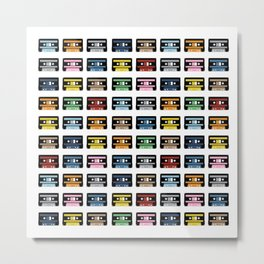 80 Rainbow Tapes Metal Print