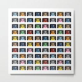 80 Rainbow Tapes Metal Print