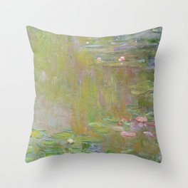 Water Lily Pond by Claude Monet Throw Pillow
