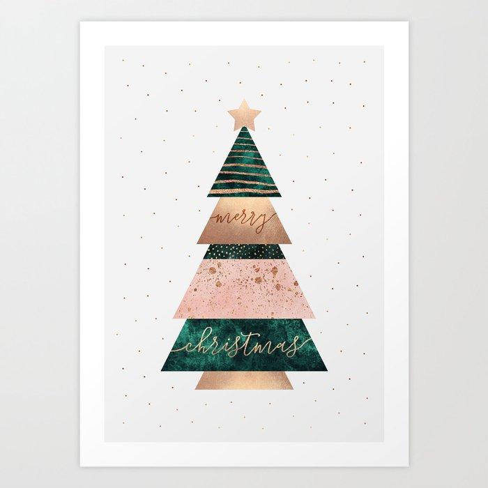 Merry Christmas Tree Kunstdrucke