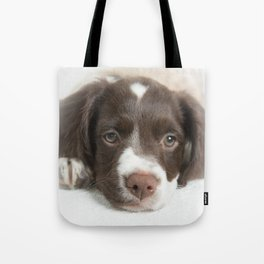 Brittany Puppy Tote Bag