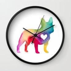 French Bulldog Love Wall Clock