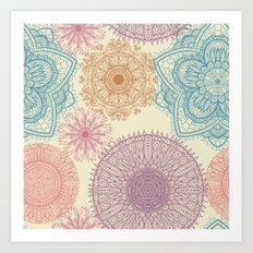 Hand Drawn Mandala Pattern 06 Art Print
