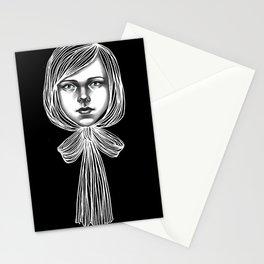 Negativ-Bow tie Girl Stationery Cards