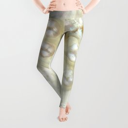 Shimmery Pearly Abalone Shell Leggings