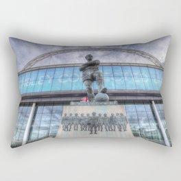 Booby Moore Statue Wembley Stadium Rectangular Pillow