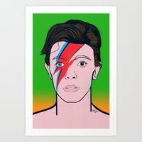 david bowie Art Prints featuring David Bowie by Alli Vanes