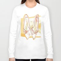 shoes Long Sleeve T-shirts featuring Shoes by Sabine Israel